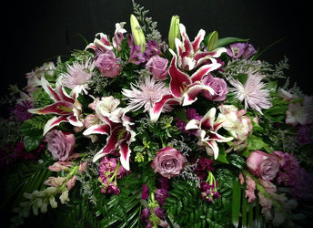 Stargazer Lilies in Lilac from Faught's Flowers & Gifts, florist in Jonesboro