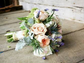 romantic wedding bouquet from Faught's Flowers & Gifts, florist in Jonesboro