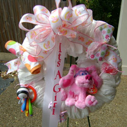 Baby Girl Wreath from Faught's Flowers & Gifts, florist in Jonesboro
