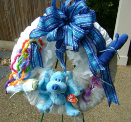 Baby Boy Wreath from Faught's Flowers & Gifts, florist in Jonesboro