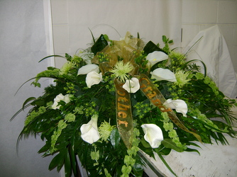 Greenery Casket Spray from Faught's Flowers & Gifts, florist in Jonesboro