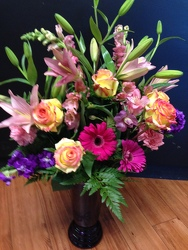 Lilies and Gerbera  Mix from Faught's Flowers & Gifts, florist in Jonesboro