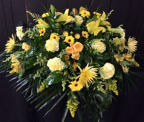 Sunshine Sympathy Tribute from Faught's Flowers & Gifts, florist in Jonesboro