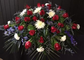 Red, White, Blue Tribute from Faught's Flowers & Gifts, florist in Jonesboro