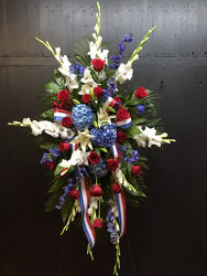 Military Tribute from Faught's Flowers & Gifts, florist in Jonesboro
