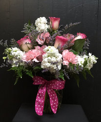 Pink Polka Dot from Faught's Flowers & Gifts, florist in Jonesboro