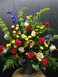 Summer Spectacle Sympathy Basket  from Faught's Flowers & Gifts, florist in Jonesboro