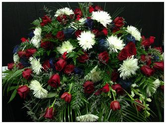 Patriotic Memories Sympathy Piece from Faught's Flowers & Gifts, florist in Jonesboro