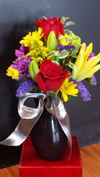 Roses and Lily Bouquet from Faught's Flowers & Gifts, florist in Jonesboro