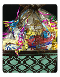 Gift Basket with Asst. Snacks! from Faught's Flowers & Gifts, florist in Jonesboro