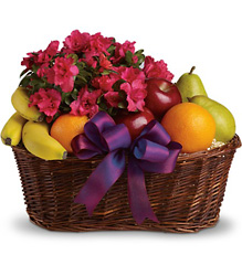 Fruits and Blooms Basket from Faught's Flowers & Gifts, florist in Jonesboro