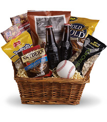 Take Me Out Ballgame Basket from Faught's Flowers & Gifts, florist in Jonesboro