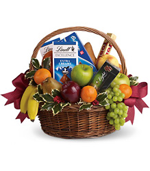 Fruits and Sweets Basket from Faught's Flowers & Gifts, florist in Jonesboro