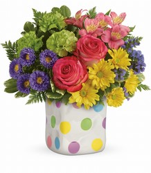 Teleflora's Happy Dots Bouquet from Faught's Flowers & Gifts, florist in Jonesboro