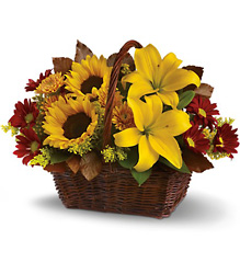 Golden Days Basket from Faught's Flowers & Gifts, florist in Jonesboro
