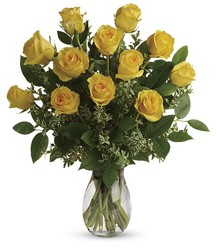 Say Yellow Bouquet from Faught's Flowers & Gifts, florist in Jonesboro